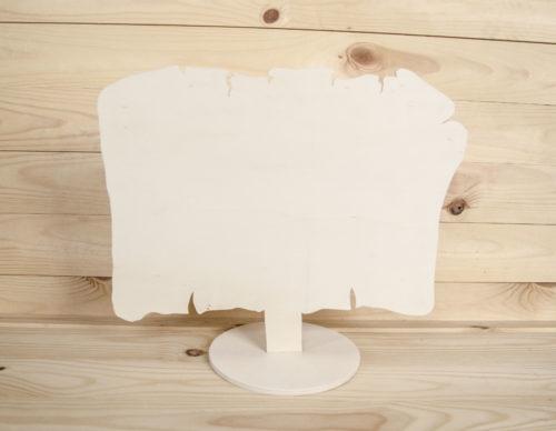 pergament din lemn cu suport
