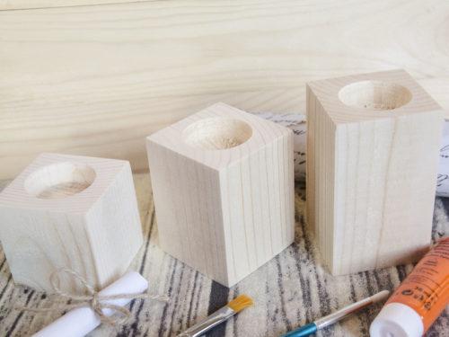 Suport din lemn pentru lumanari