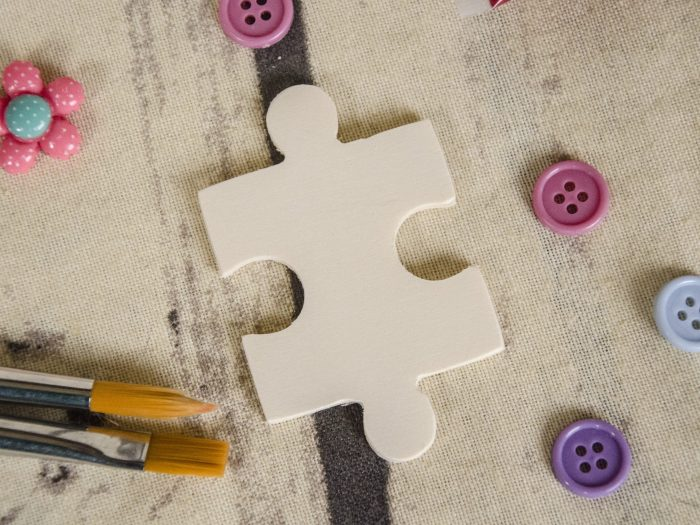 Blank puzzle din lemn