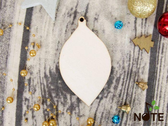 Blank Glob lacrima ornament de brad Craciun