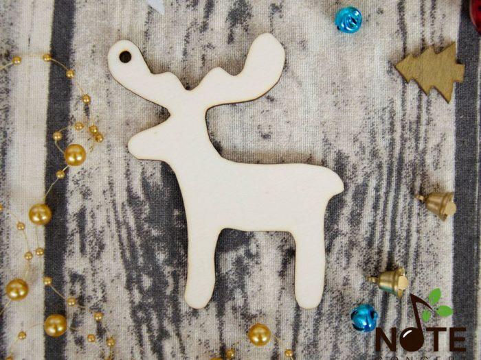 blank Ren ornament de brad Craciun