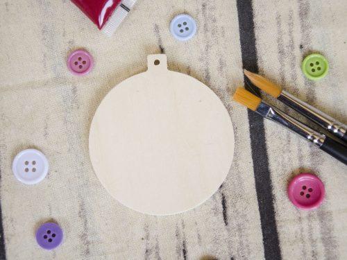 Blank ornament glob rotund din lemn