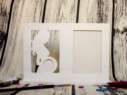 Blank lemn rama foto cu ecografie