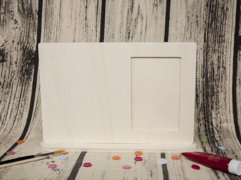 Blank rama foto din lemn cu talpa