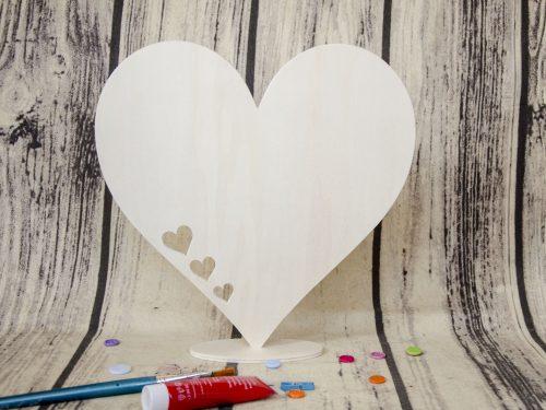 Blank inima din lemn cu talpa