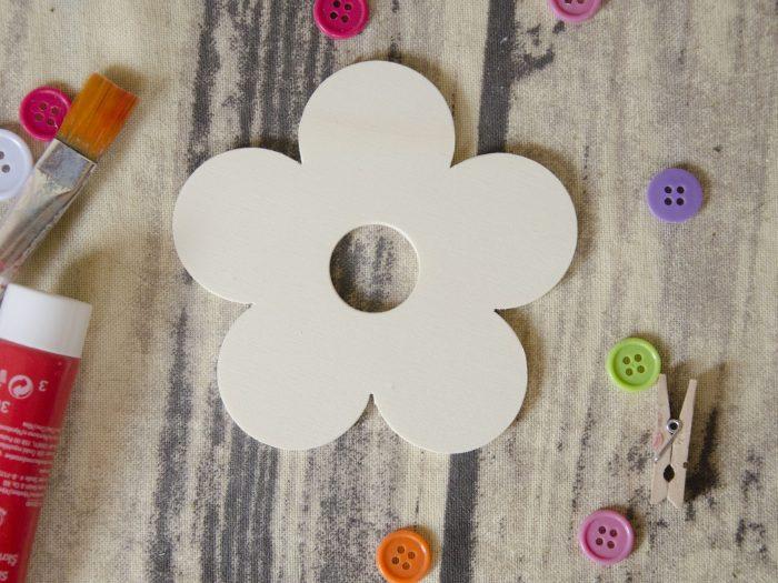 Blank floare suport pahare, baza din lemn