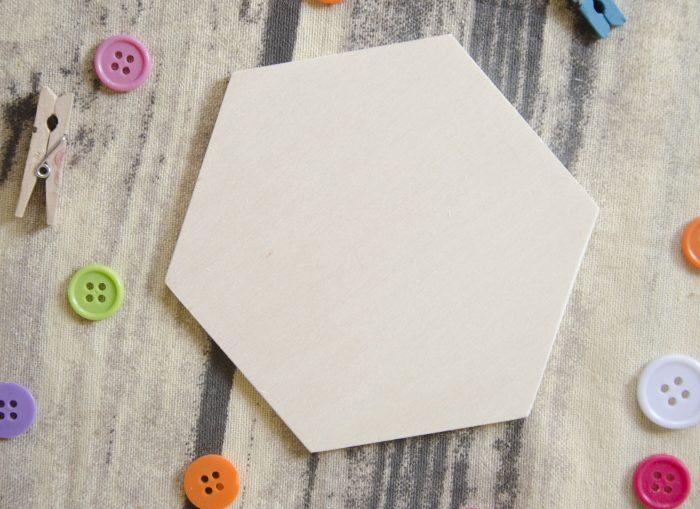 Blank baza hexagon suport pahare