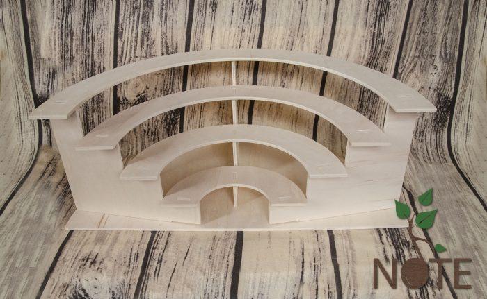 Stand din lemn amfiteatru