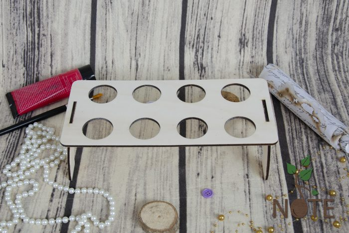 Suport lemn dreptunghiular pentru 8 oua