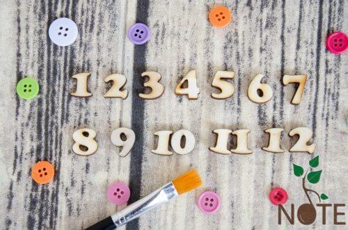 cifre pentru ceas din lemn