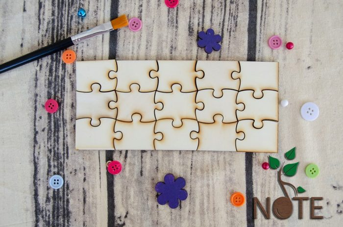 blank piese puzzle din lemn