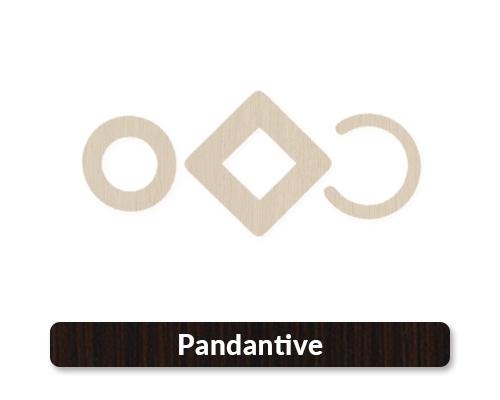 baze pandantive si cercei din lemn