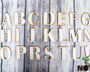 blank set alfabet lemn