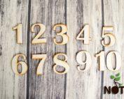 blank set cifre lemn 8 cm