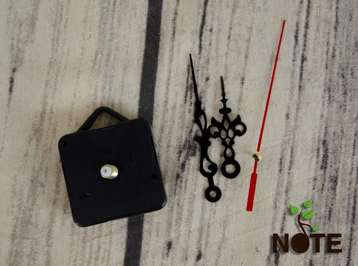 mecanism ceas perete NC01 repere cu model