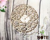blank ceas mandala din lemn