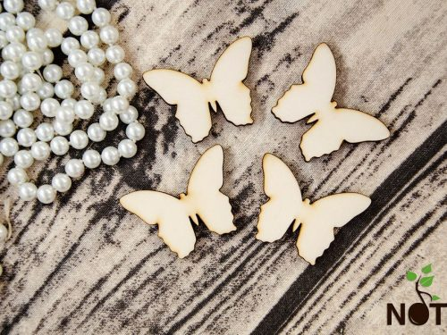 Blank set fluturi din lemn