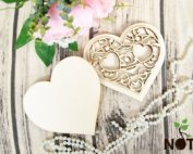 blank cutie verighete inima cu capac
