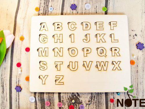 Blank puzzle alfabet din lemn