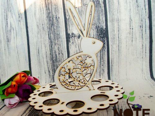 Blank suport de oua dantelat cu iepuras