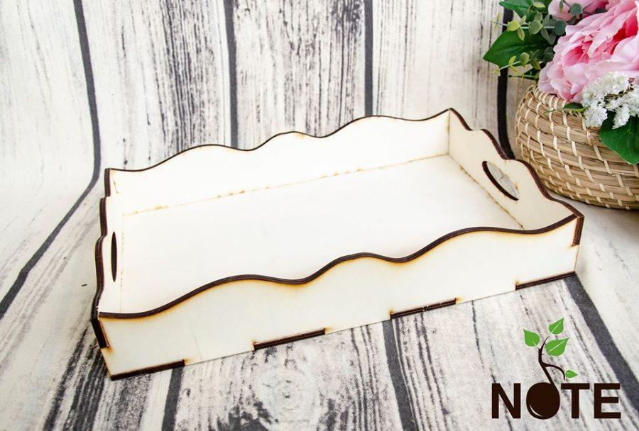 Blank tava din lemn cu model