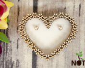 Blank baza cutie inima pentru verighete