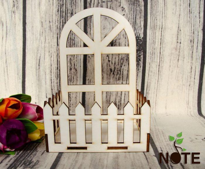 Blank cos panou cu gard din lemn