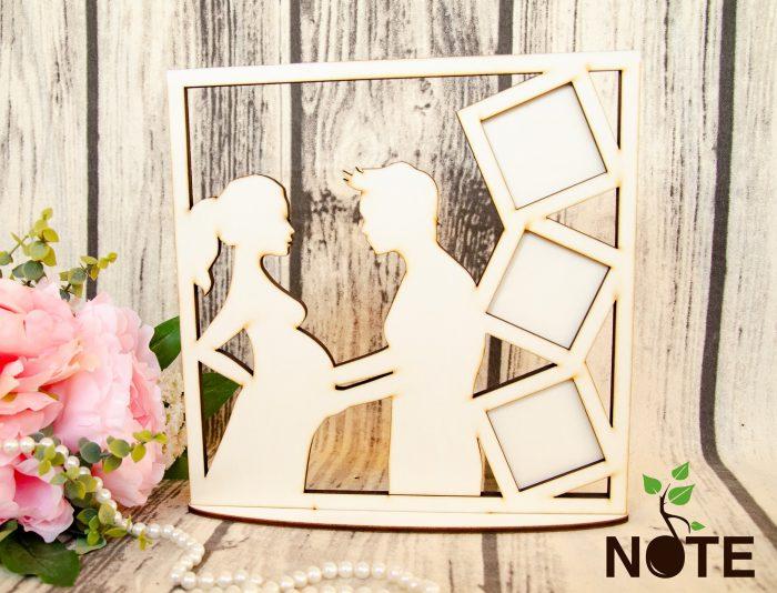 blank rama foto cuplu cu 3 poze