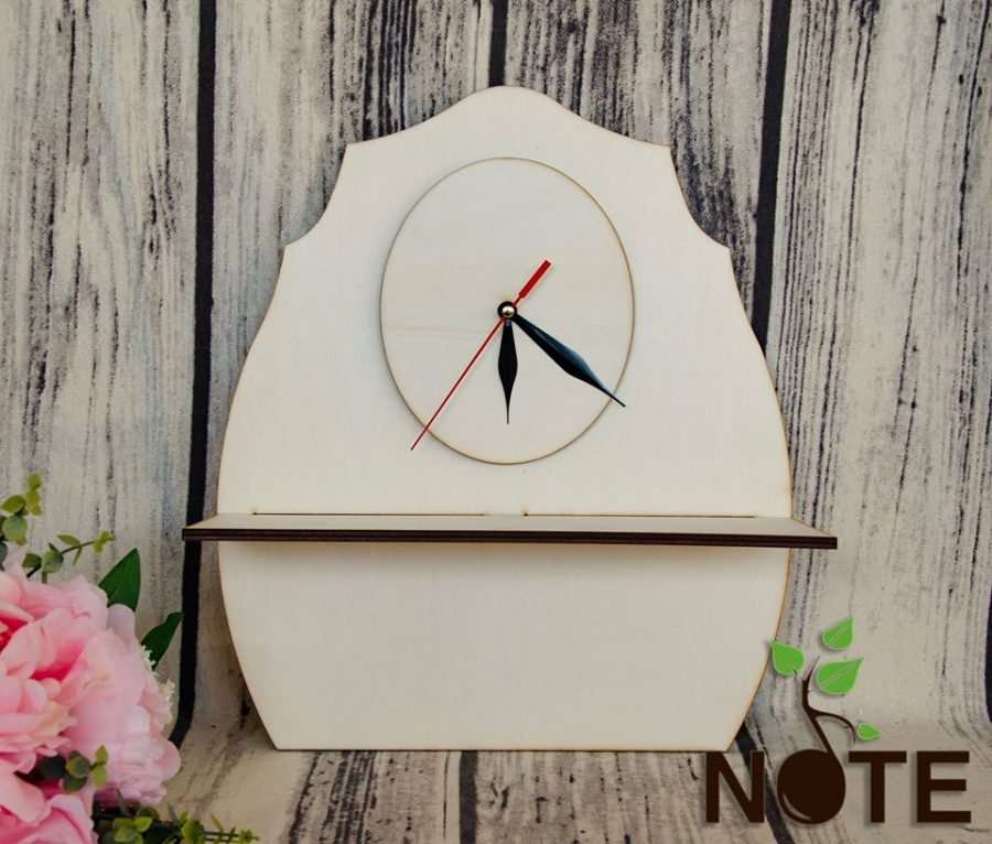 Blank suport chei cu ceas simplu