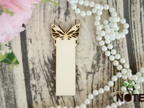 semn de carte dreptunghiular cu fluture