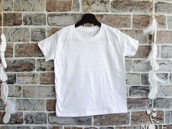 tricou alb pentru copii