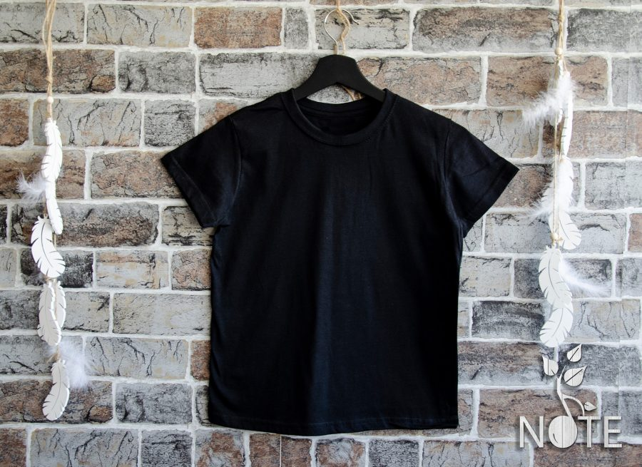 tricou negru pentru copii