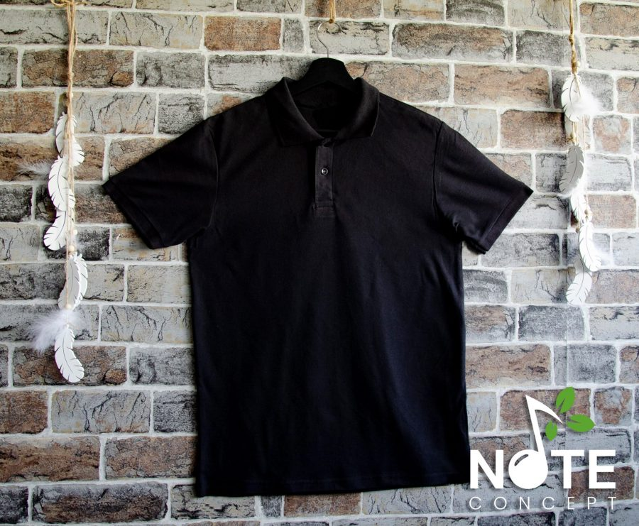 Tricou negru polo barbat