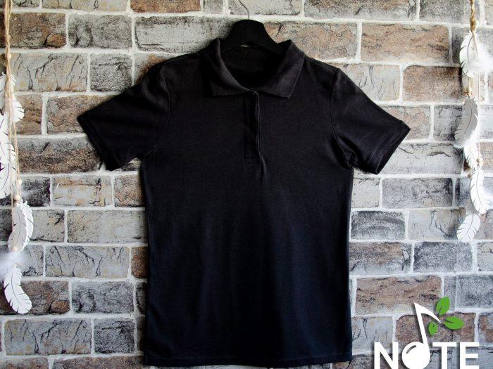 Tricou negru polo dama