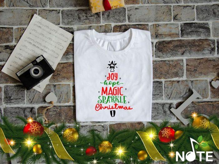 Tricou personalizat cu mesaj pentru Craciun