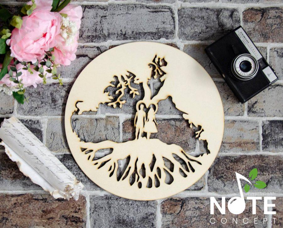 Blank baza copacul vietii din lemn cu model