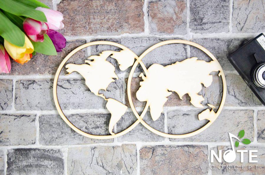 blank baza harta lumii din lemn