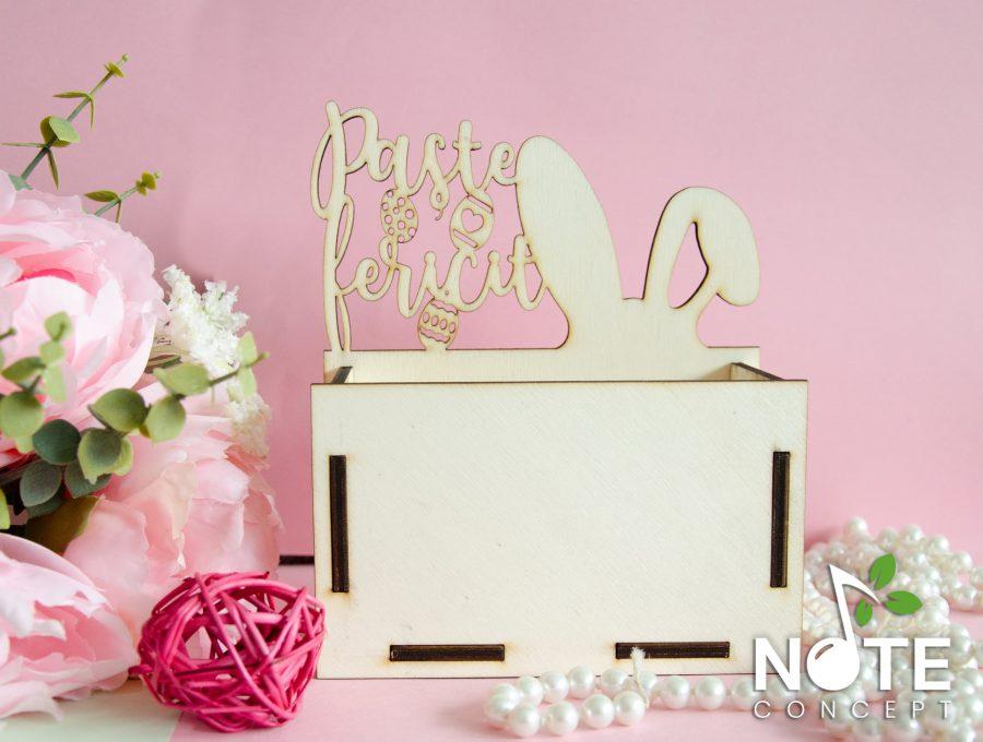 cutie aranjament floral de paste