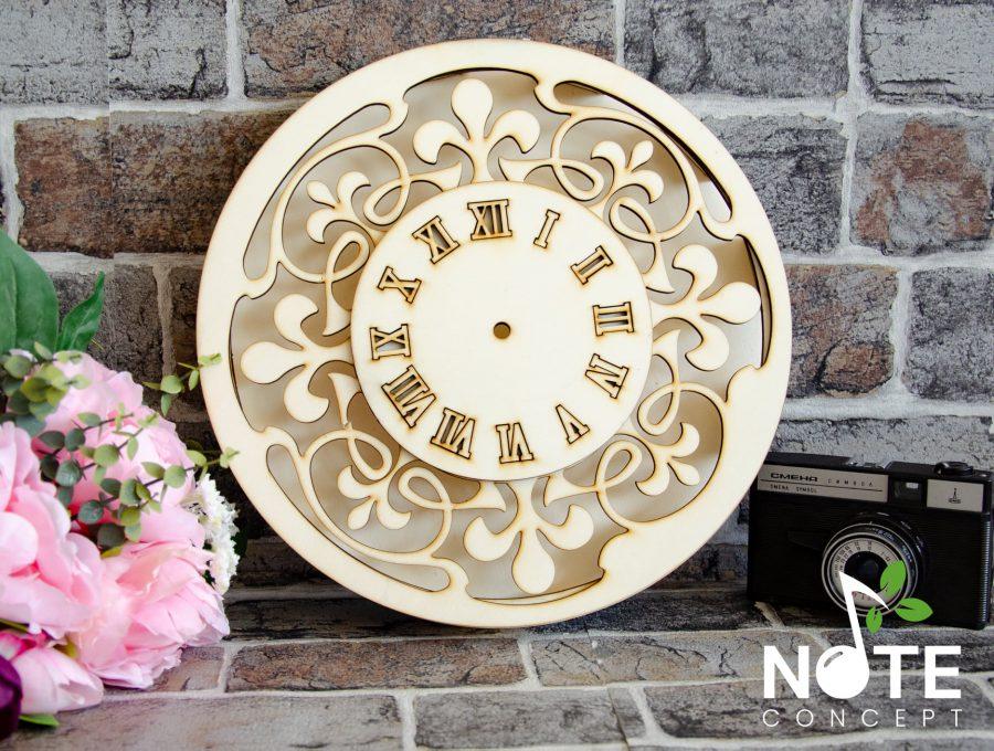 blank ceas adanc cu cifre romane gravate