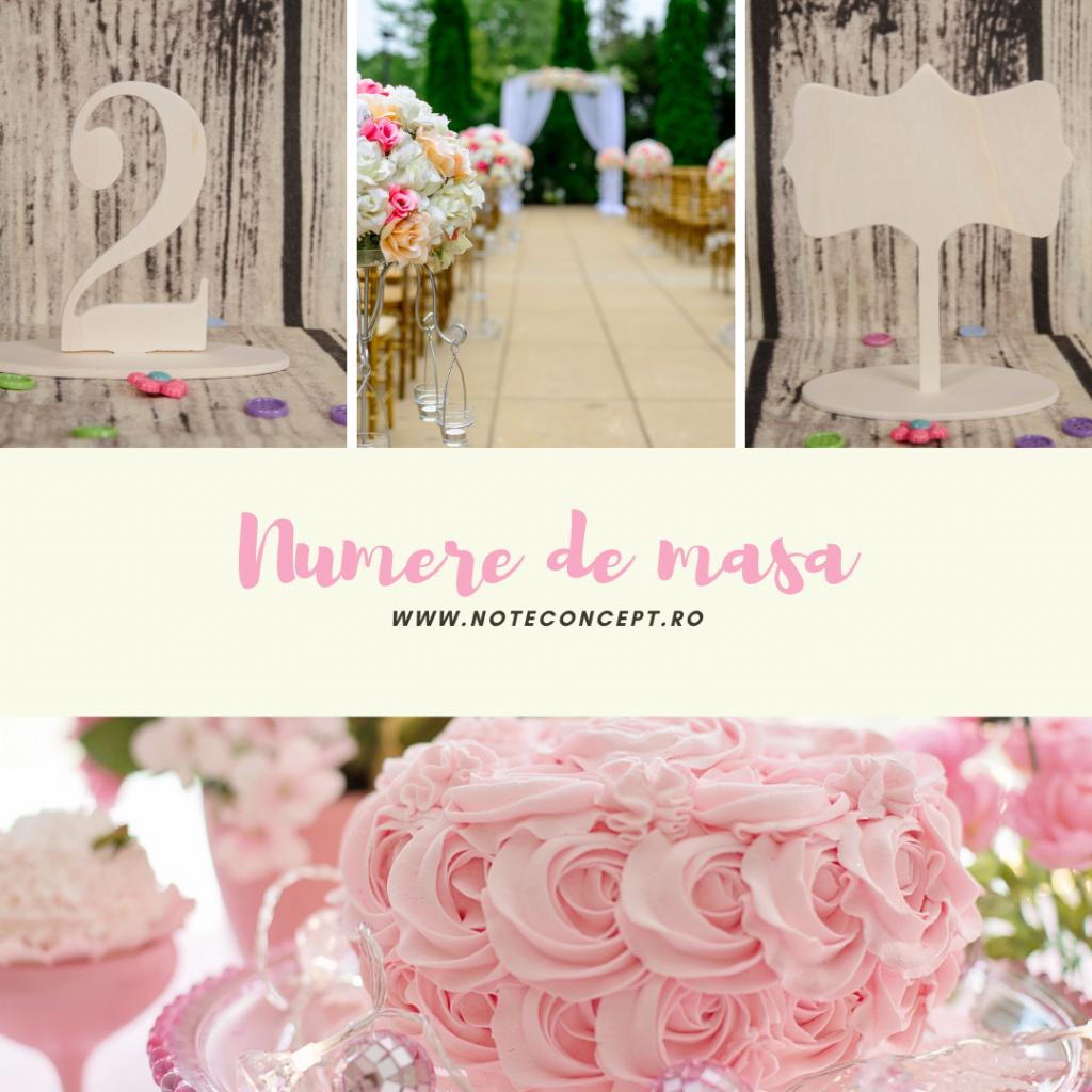 numere din lemn pentru masa de nunta