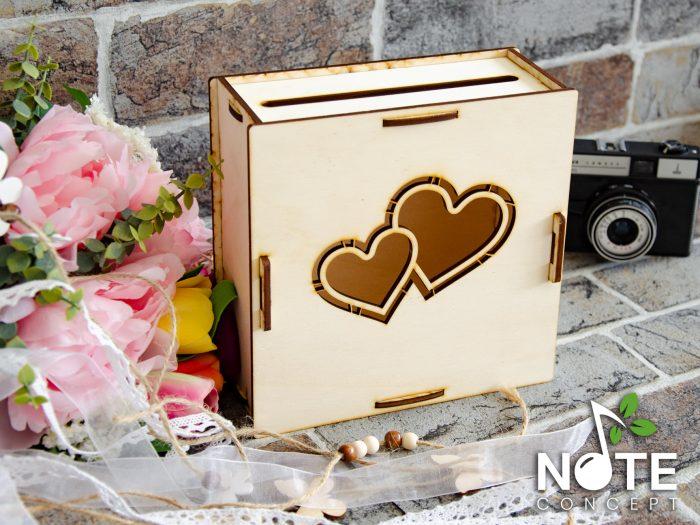 blank cutie pentru bani cu inimi