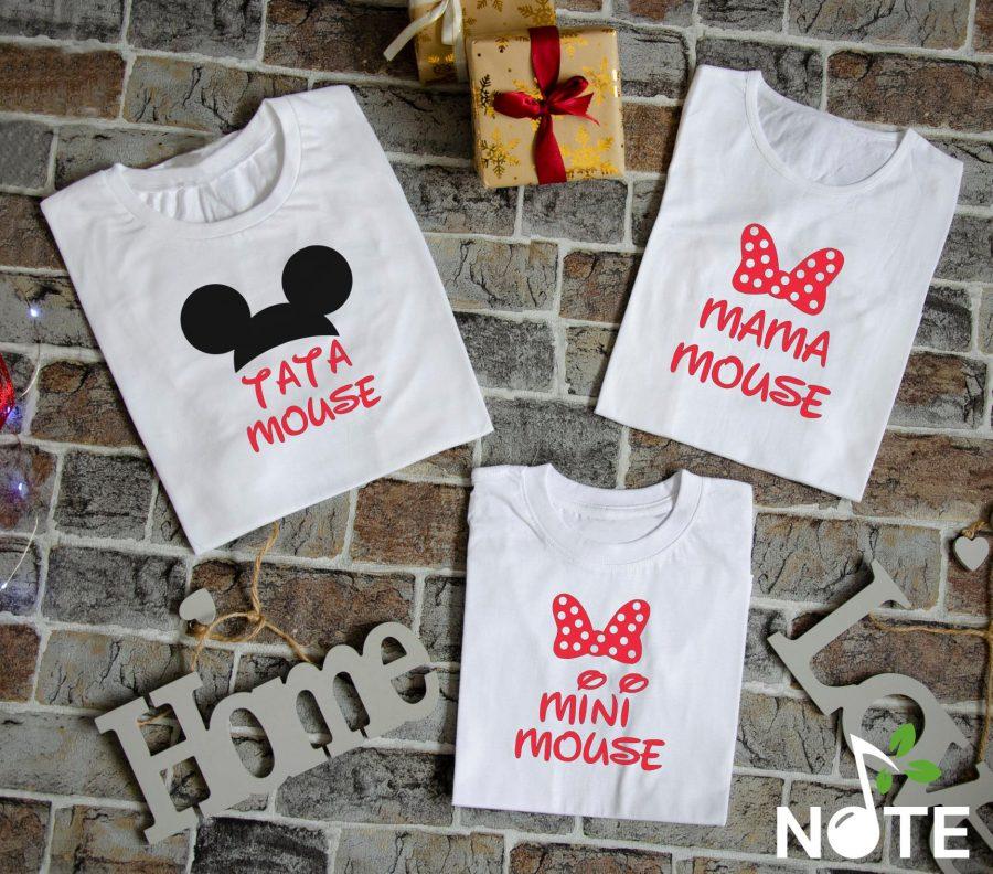 set tricouri personalizate pentru familie