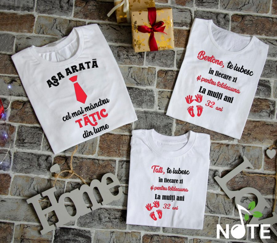 set tricouri personalizate pentru tatic mandru